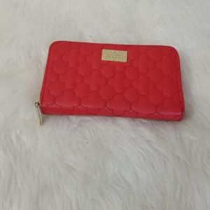 Nanette by Nanette Lepore Red Quilted Wallet